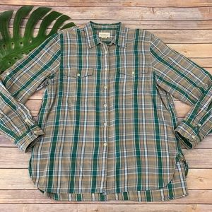 Denim & Supply Ralph Lauren green boyfriend shirt
